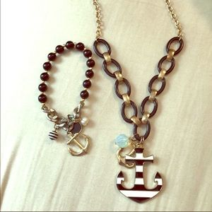 Jewelry - Anchor Necklace and matching bracelet
